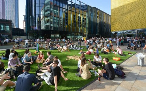 Tony Wilson Place attracts both workers and visitors alike